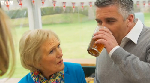 Hollywood approves of drinking during GBBO...
