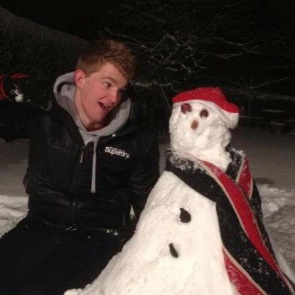Me and Snowman. We were best buds...and then he melted.