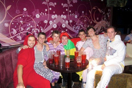 Onesies in Mozzers? Really boys?