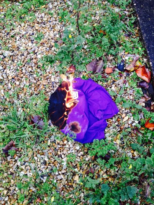 Treatment of purple under the Bush regime. Unfortunately, we've gotten soft.