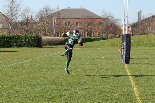 Alex Briggs Celebrates the Demons First Touchdown of the Day