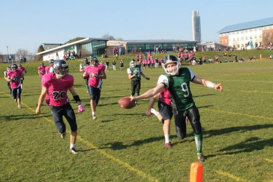 Finlay Brown Stretches the Ball into the Endzone for the Score