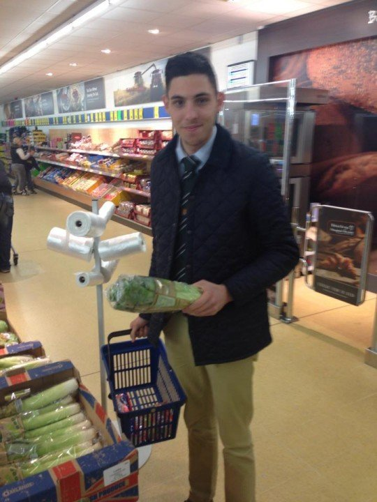 This year's victim, Haythorpe, goes shopping in Lidl