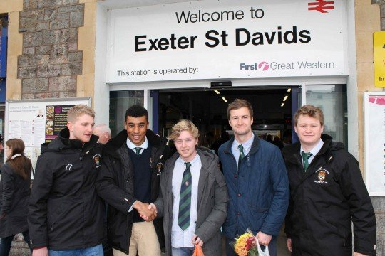 The Exeter Party with Harry.