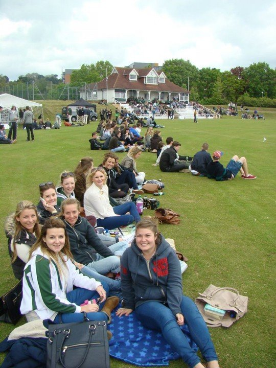 Some of the spectators at last year's Varsity