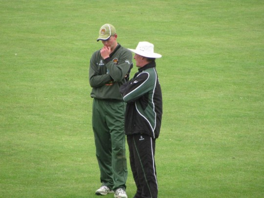 The Captain will often discuss with the Coach what to do at the toss.