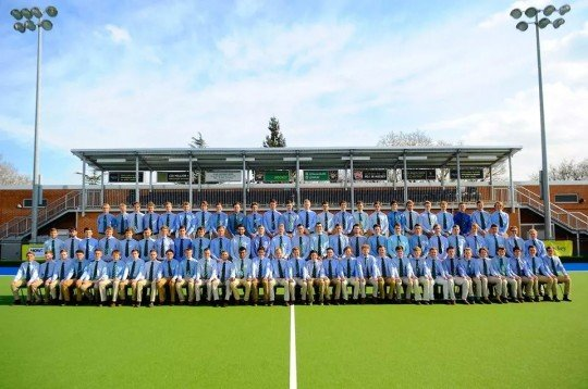 The EUMHC in suitable attire for their club photo this season.