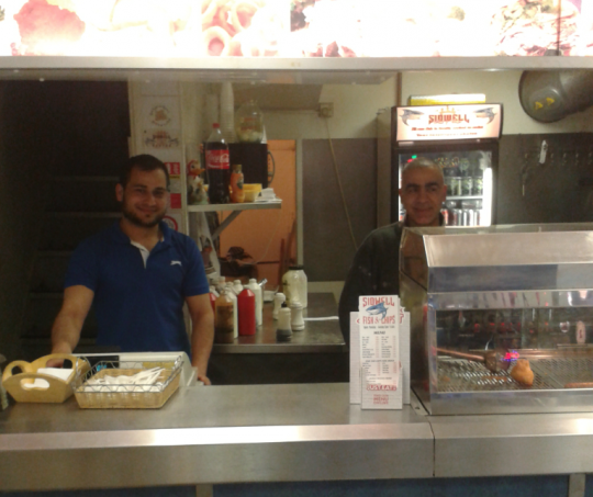 Muhammad Tila (left) in Sidwell Street's Fish and Chips