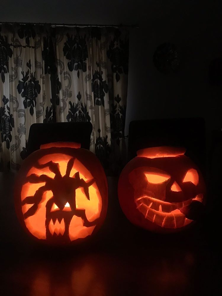 Image may contain: Pumpkin, Vegetable, Food, Halloween, Candle, Plant, Lamp