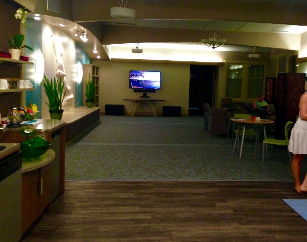 The Aquafloat Cville reception area