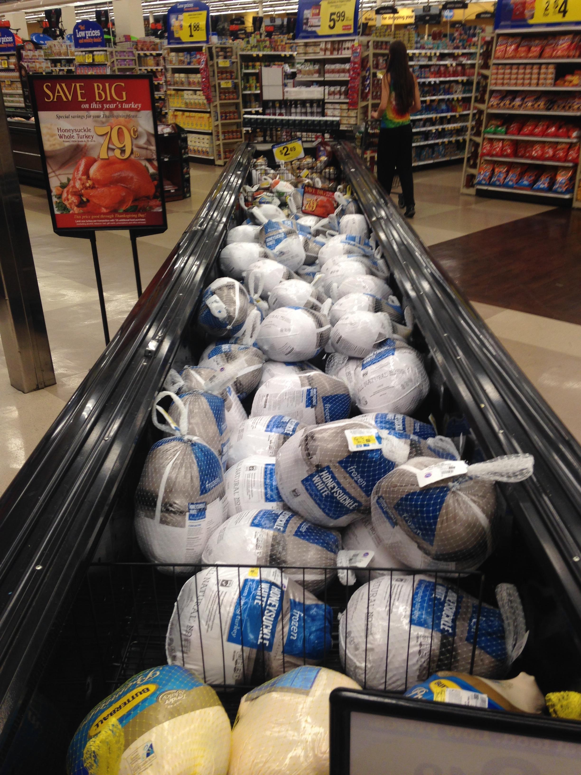 A sea of turkeys at Kroger