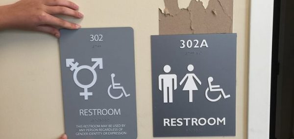 gender neutral bathroom signs ripped down in the campus y - Gender Neutral Bathroom Signs