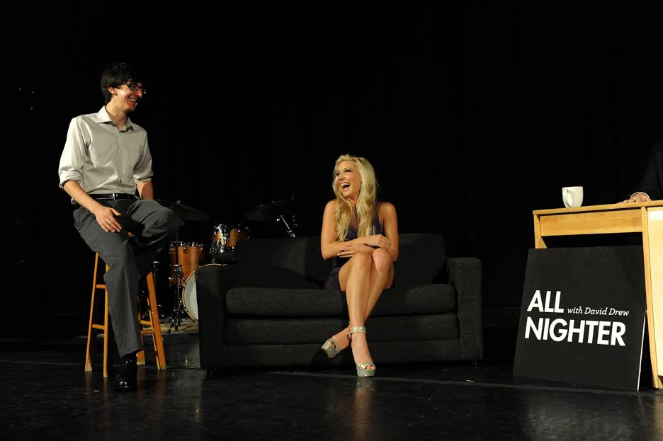Interviewed as a guest on Princeton's late-night talk show