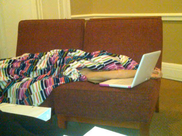 The glamor of finals-week naps