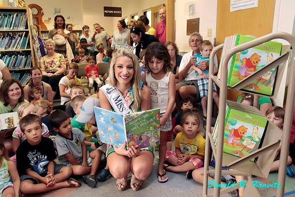 Cara in the classroom during her reign as Miss NJ