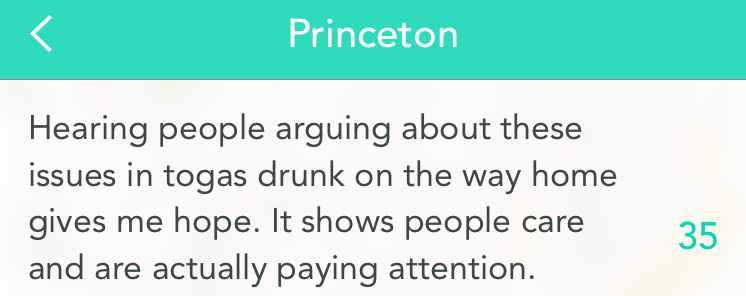 Students on either side of the issue have been in constant discussions over Yik Yak this week