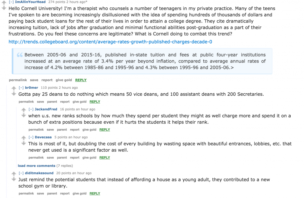 the best from cornell admissions reddit ama the tuition question