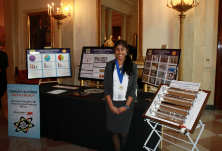 At the White House Science Fair with her project