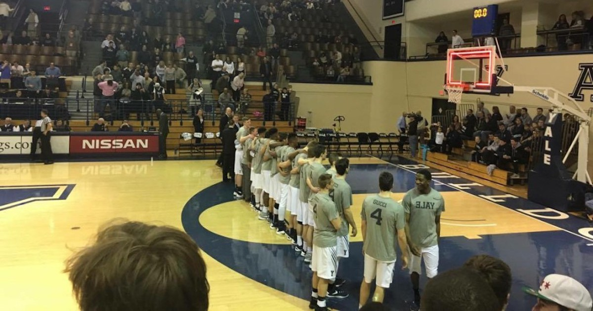 The Harvard game two weeks ago, after Jack Montague left the team