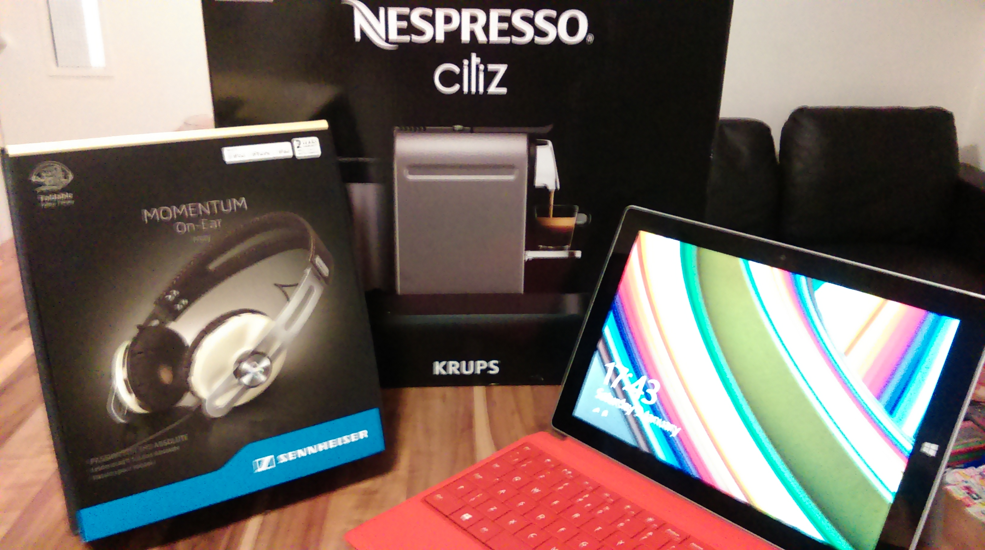 Some of the prizes from the technology bundle that I won from the #WINYOURFEES comp, it also included a kettle, toaster, sandwich toaster, iron, hoover etc