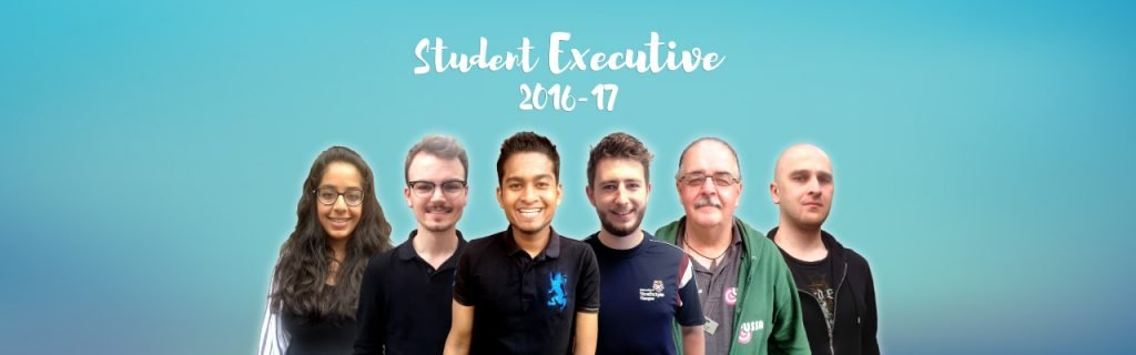 Raj, third from left, is President of the Students' Association