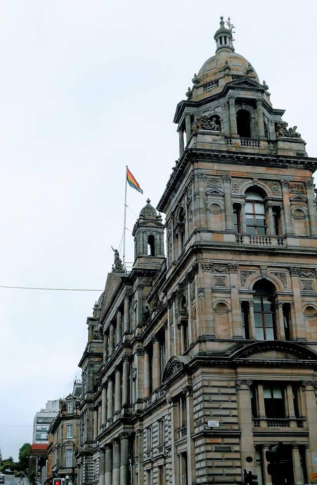 The rainbow flag was flown representing LGBTI pride