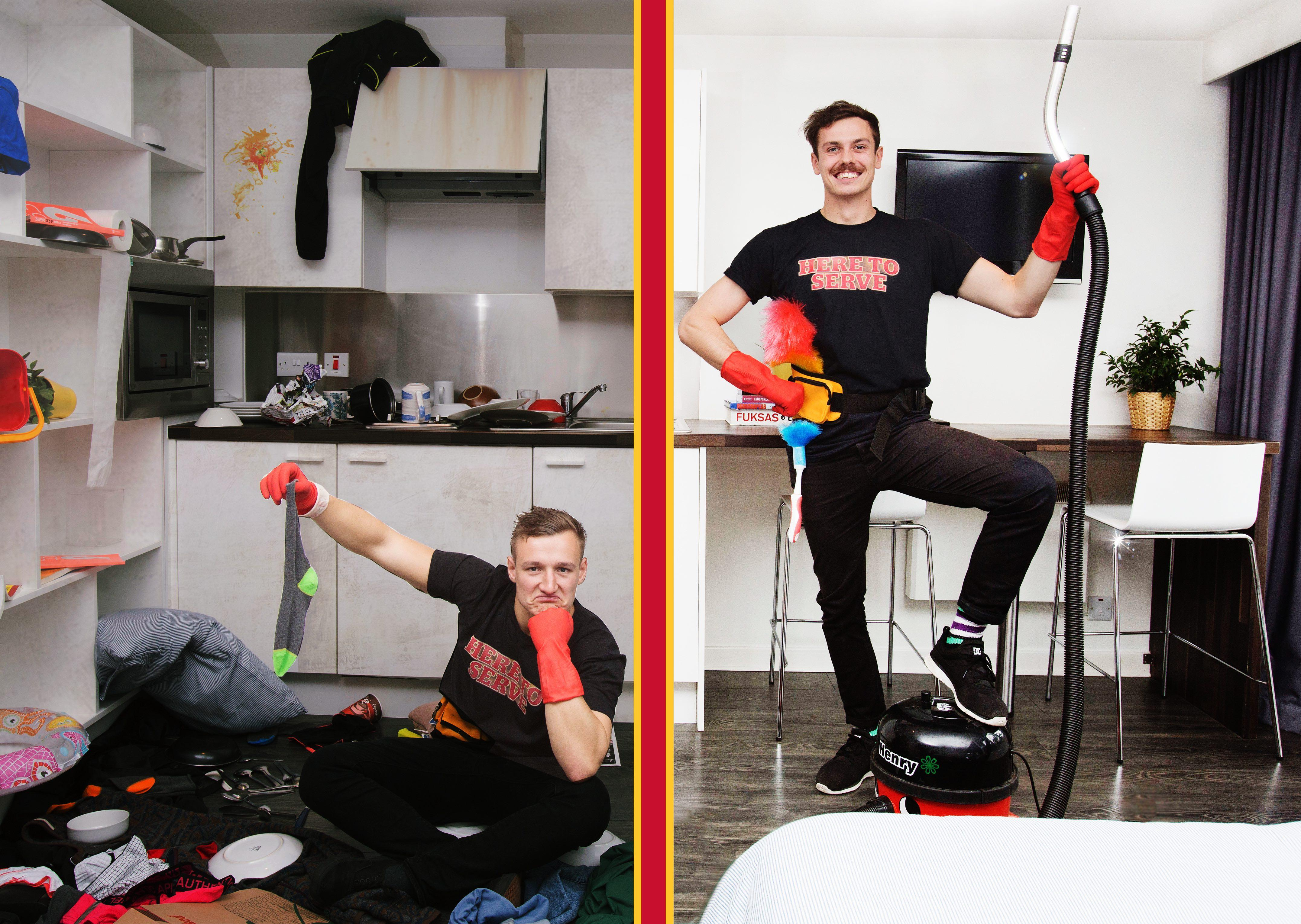 These boys will help you tidy up