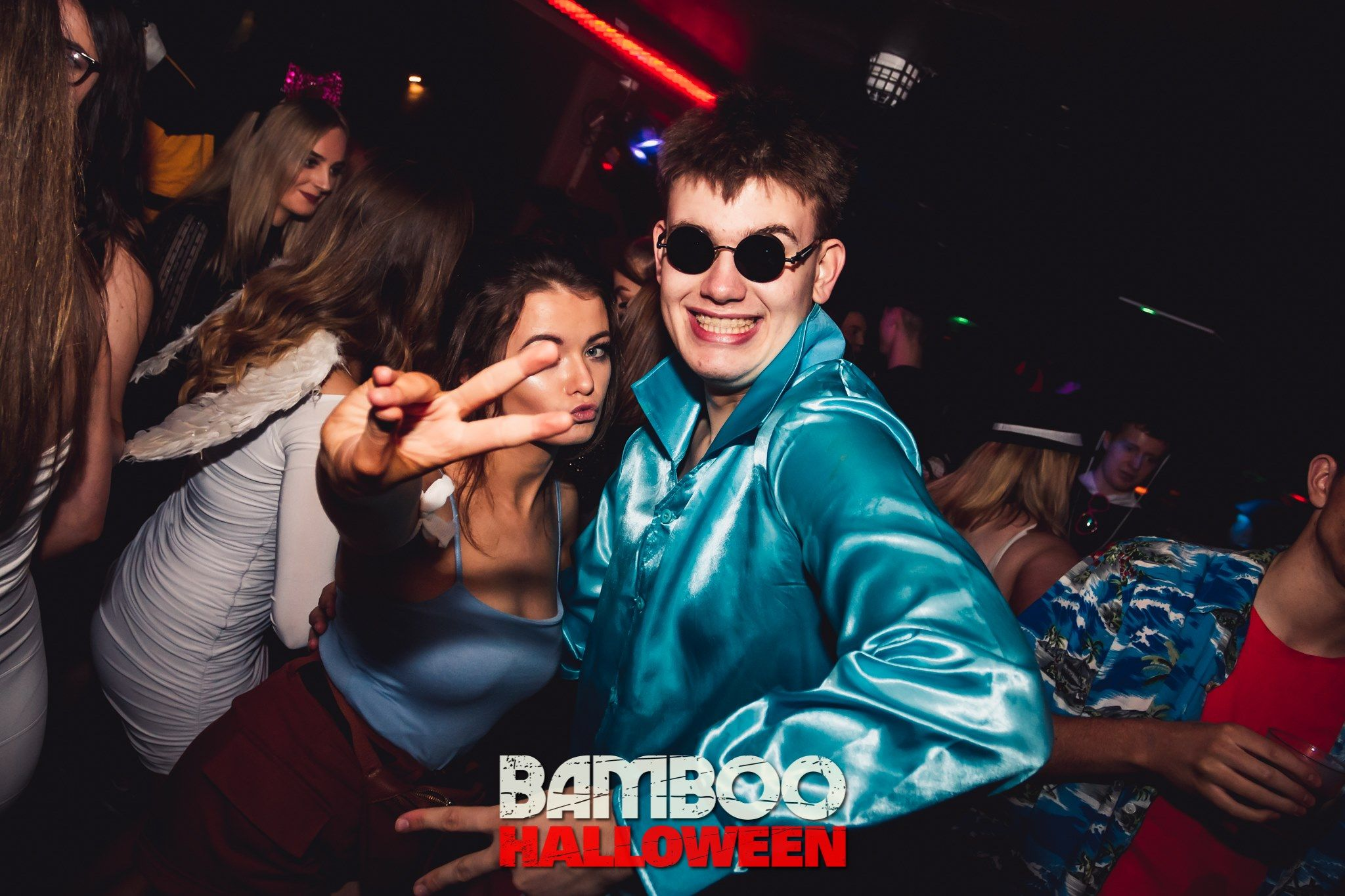 Image may contain: Night Life, Disco, Party, Person, Human, Sunglasses, Accessory, Accessories, Night Club, Club
