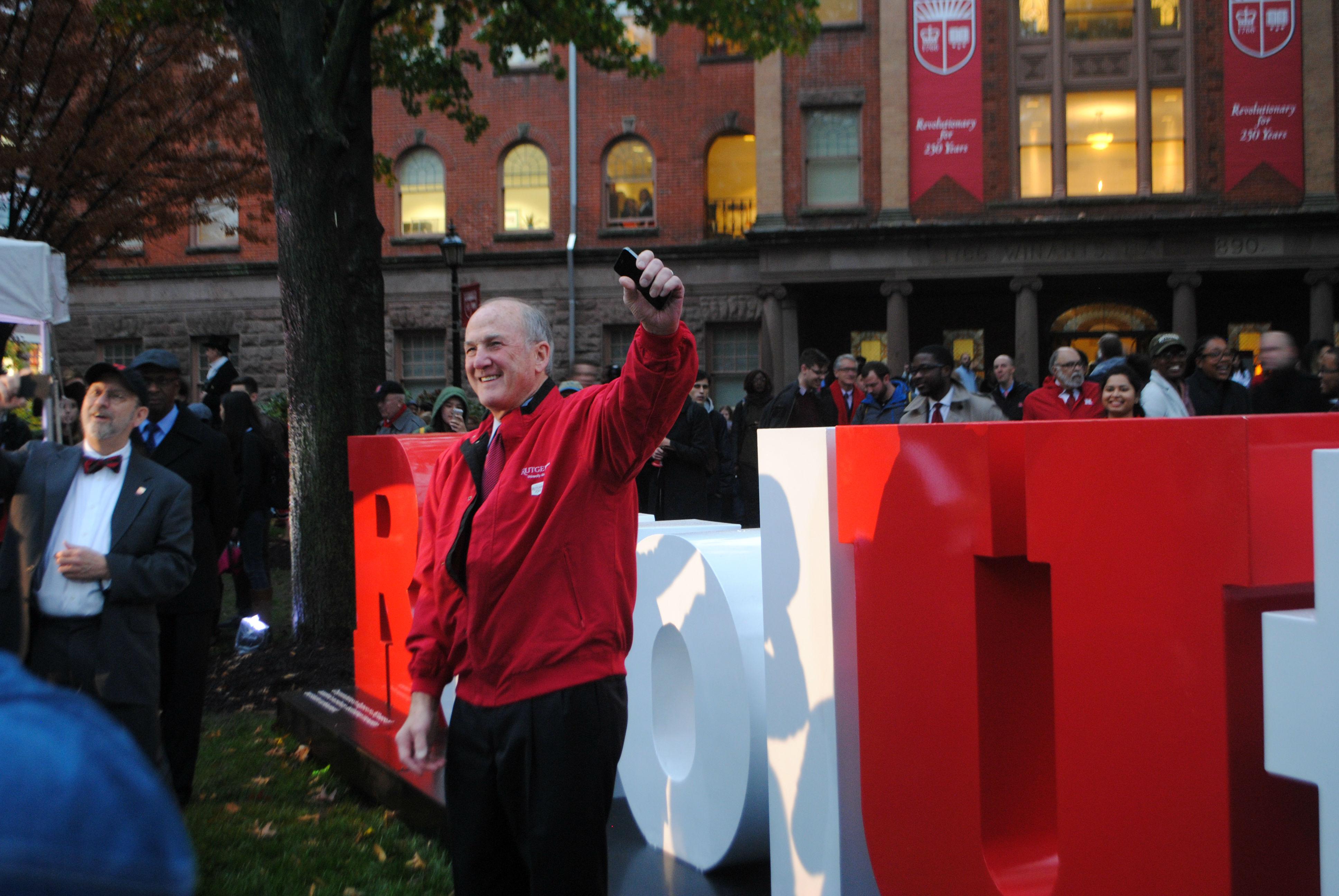 President of Rutgers University, Robert Barchi.