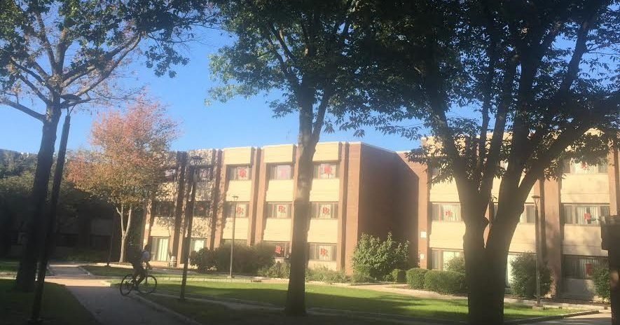 One of the many dorms on campus