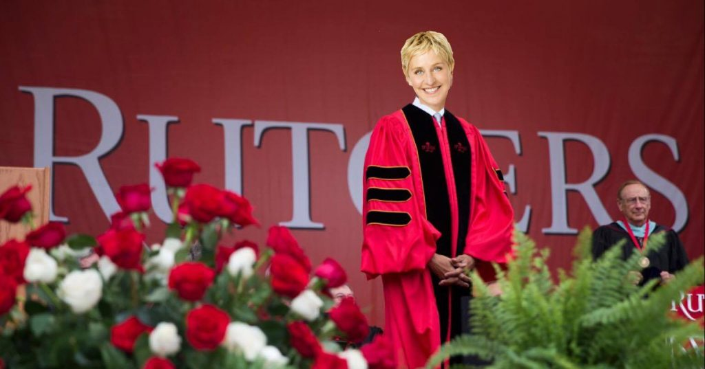 Ellen DeGeneres Commencement Rutgers
