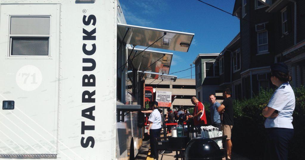 Starbucks truck Rutgers University
