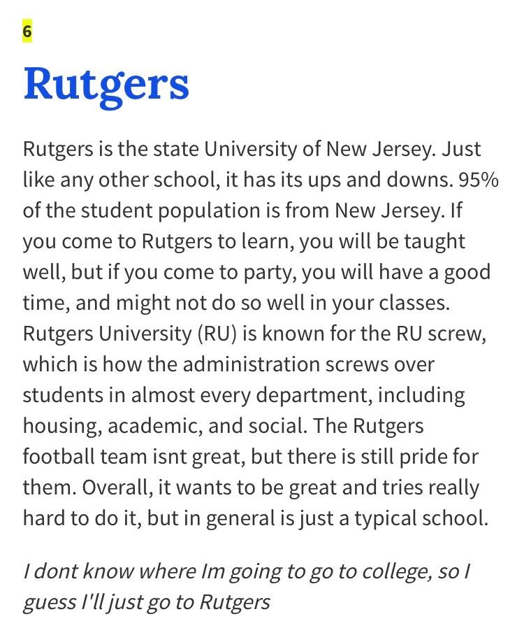 Write my rutgers essay