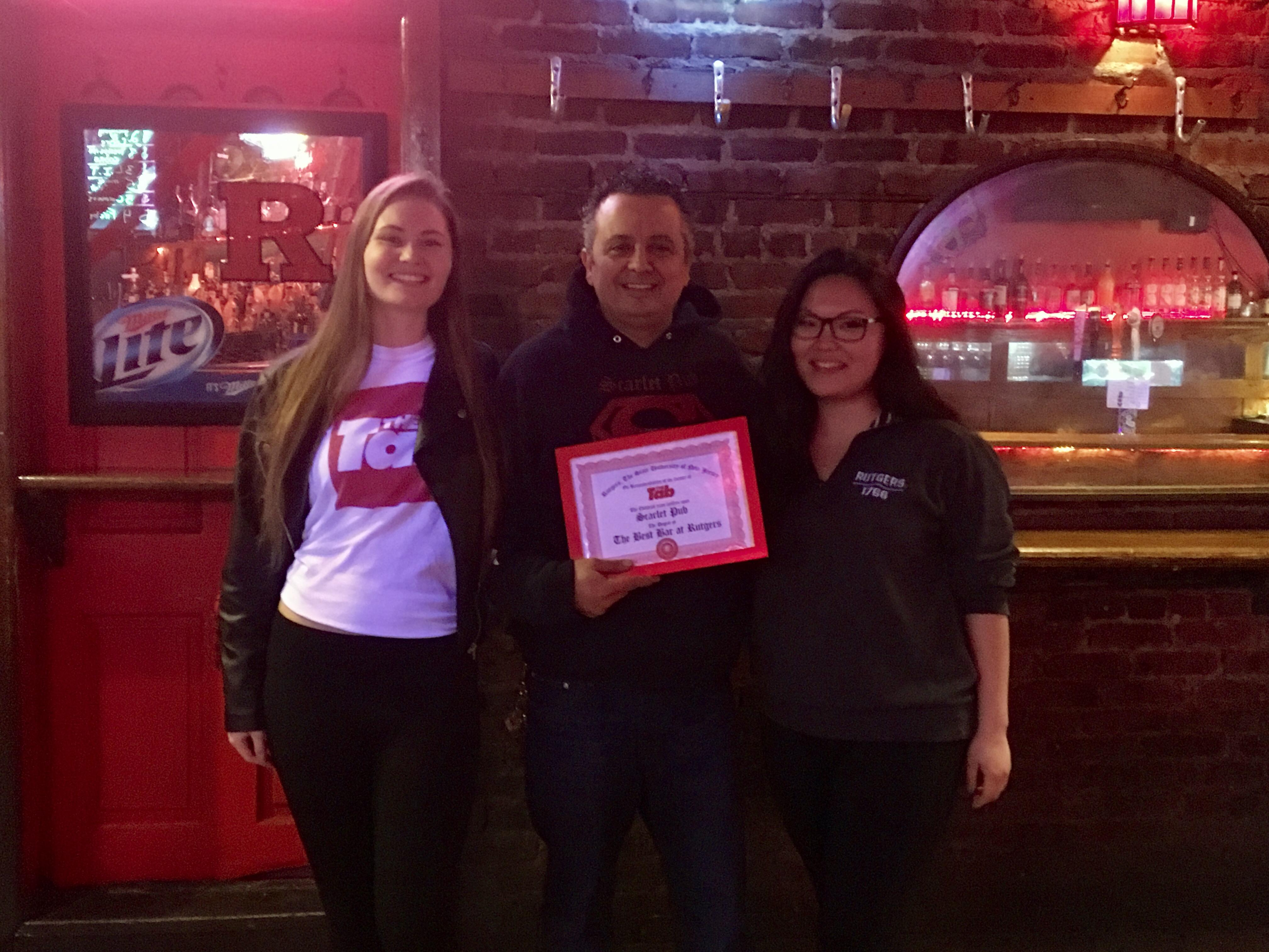 Scarlet Pub was voted the best bar at Rutgers by Tab readers