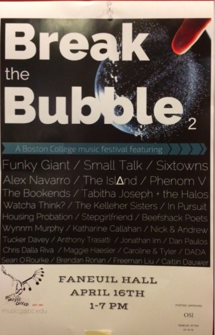 Burst the Bubble, occurring the 16th