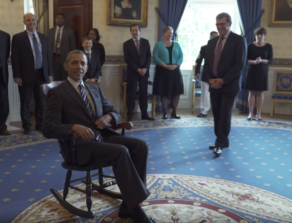 Uconn Women S Basketball Gift Obama A Rocking Chair