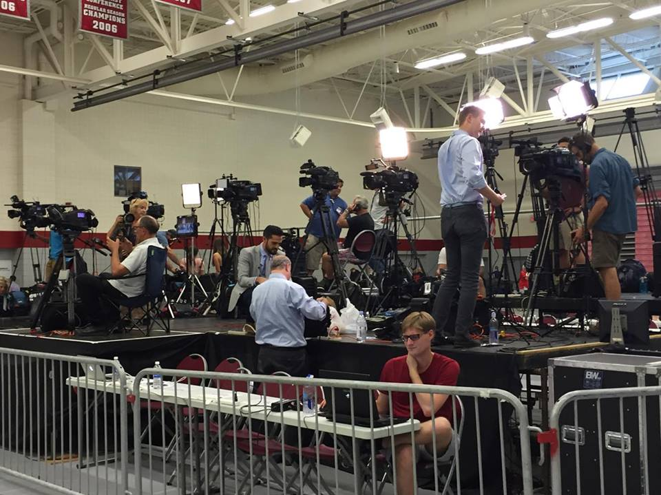 """The """"Media Cage""""."""