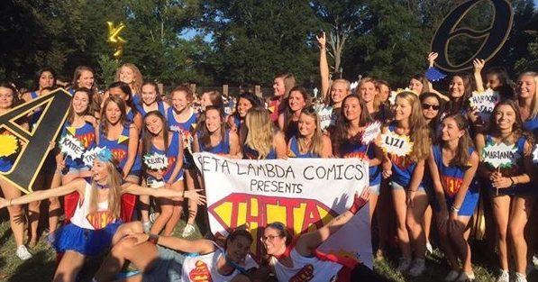 Sorority girls celebrate bid day