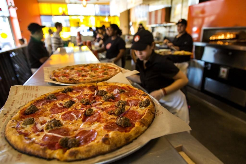 the new blaze pizza is lit