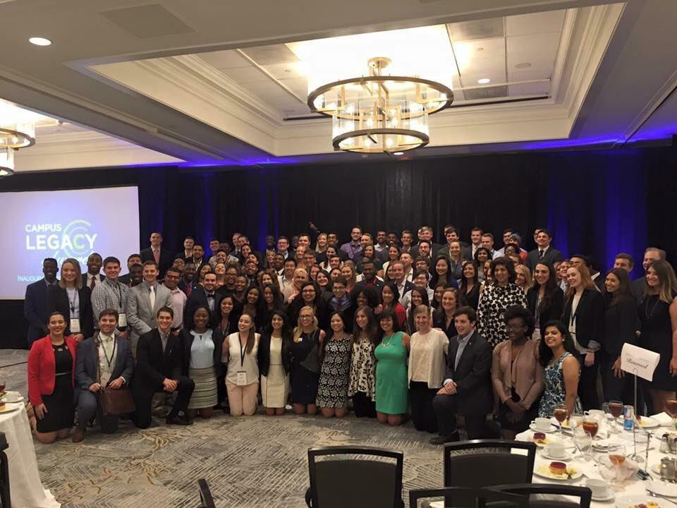 Student Body Presidents together during a Presidential Leadership summit in DC