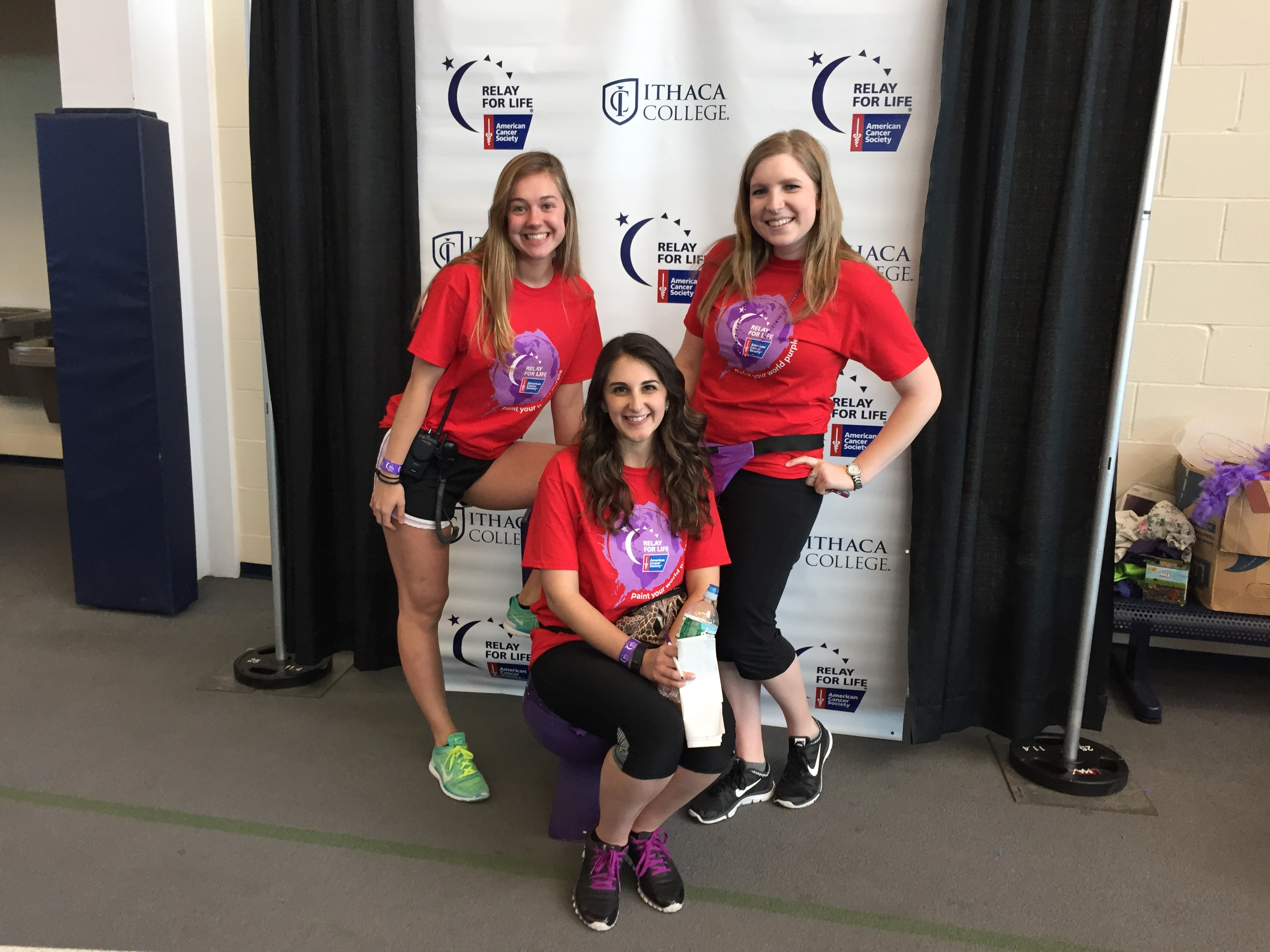 Marlee (left), Carli (center), and Vice President Amanda Stephan (right.)