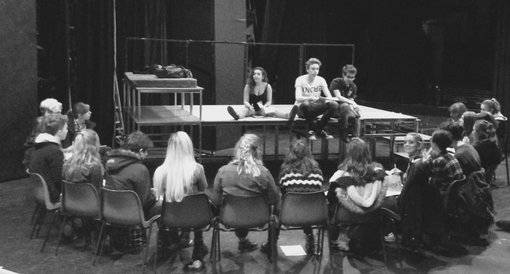 """A cast read through of a recent production of """"Mermaid"""""""
