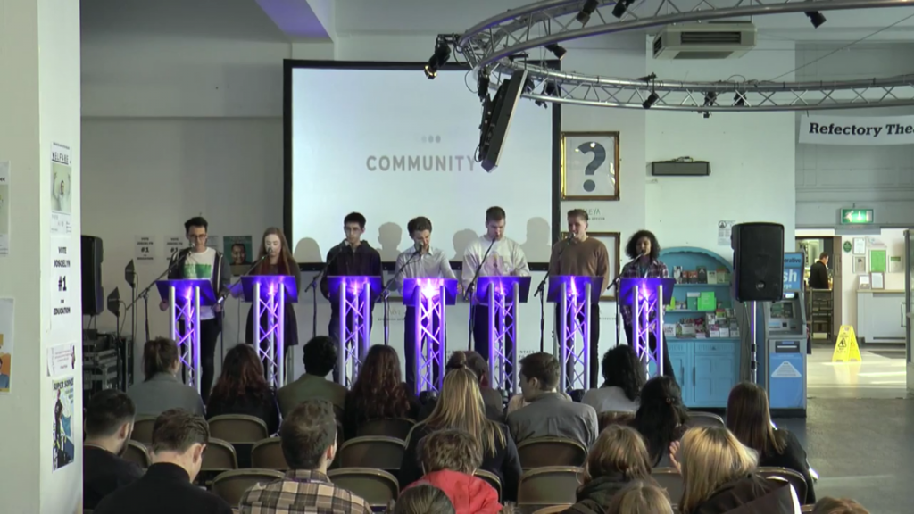 Jamie, Laurie, Matthias, Sam (the presenter), James Killin, James Parry, Sasha