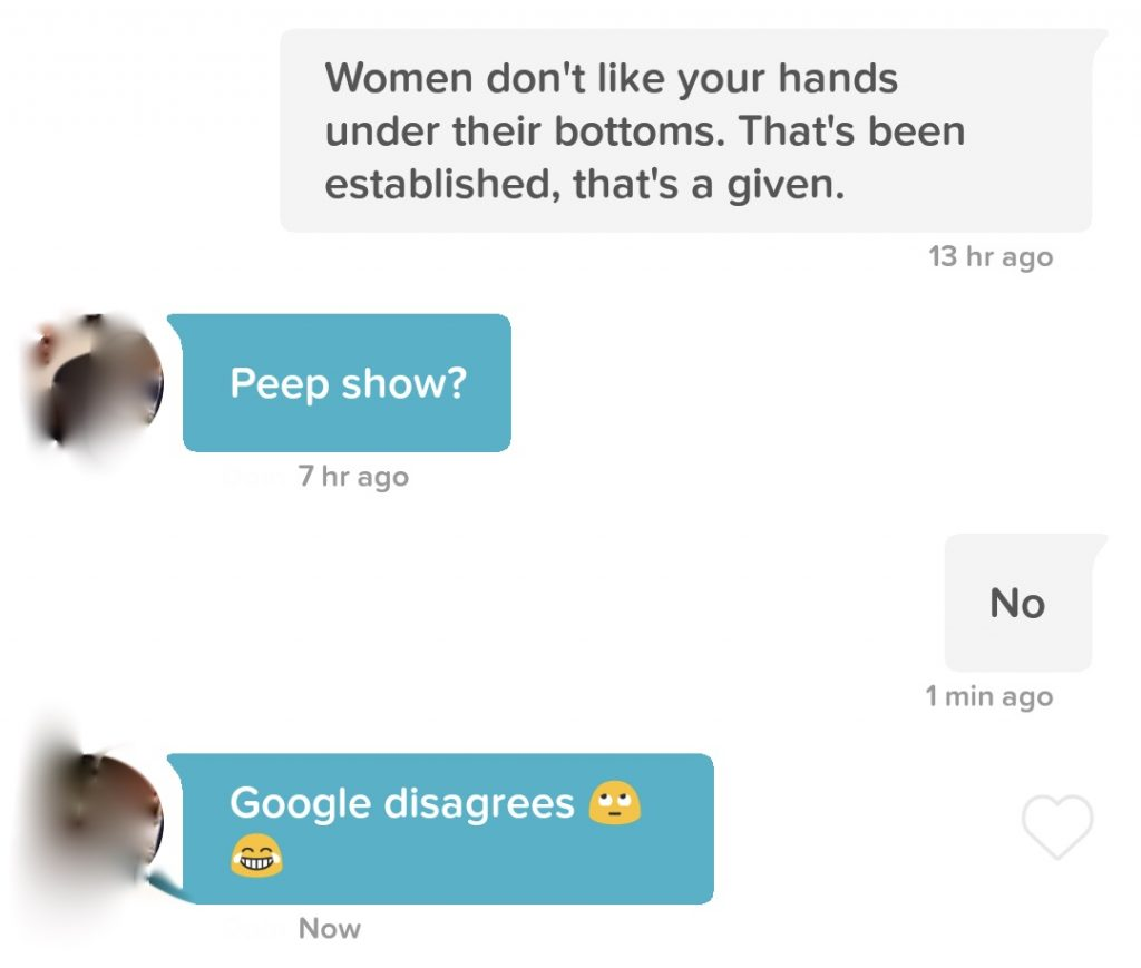 I used Peep Show quotes to start conversations with matches on