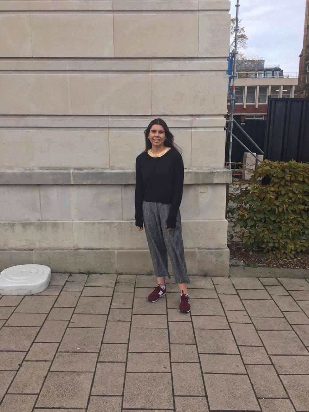 Smashing the classic Leeds look – culottes and trainers