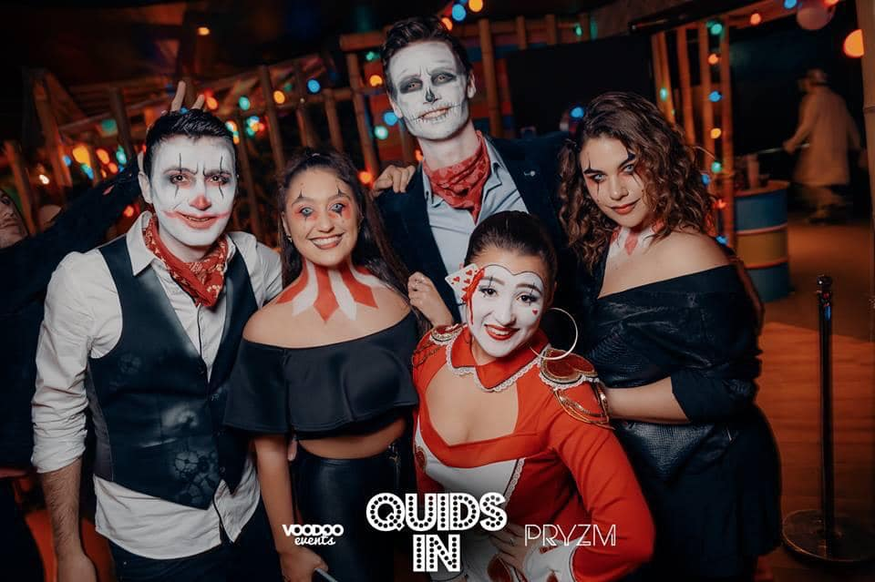 Image may contain: People, Halloween, Party, Night Club, Club, Person, Human