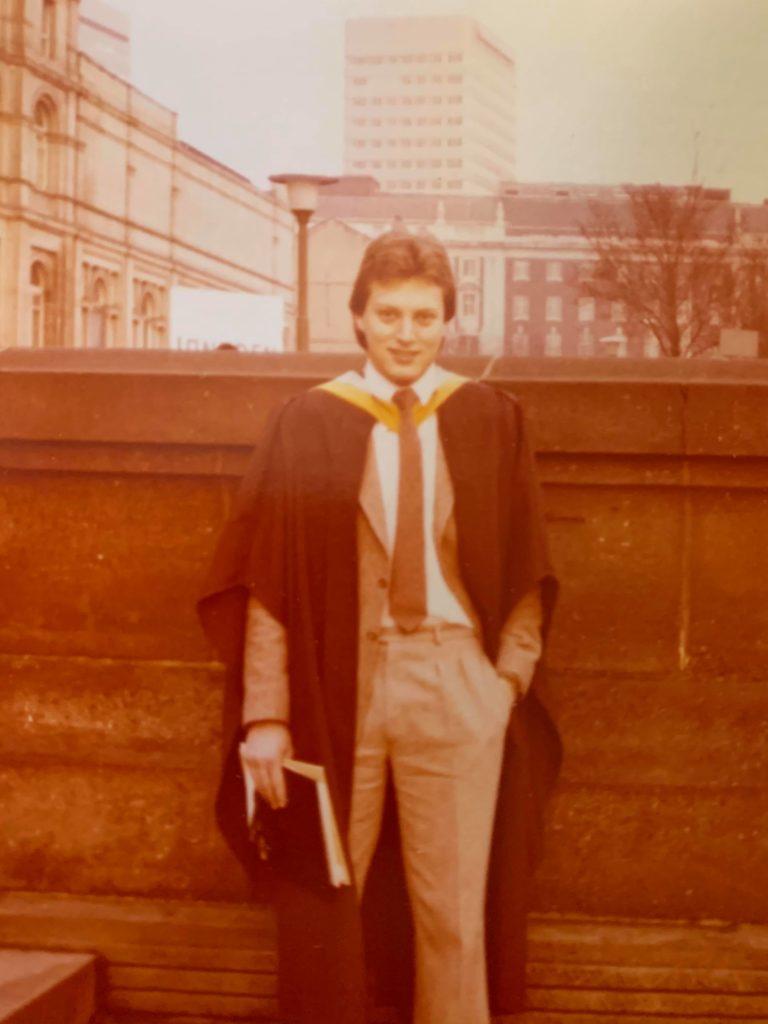 Leeds Uni student David Hughes at his graduation