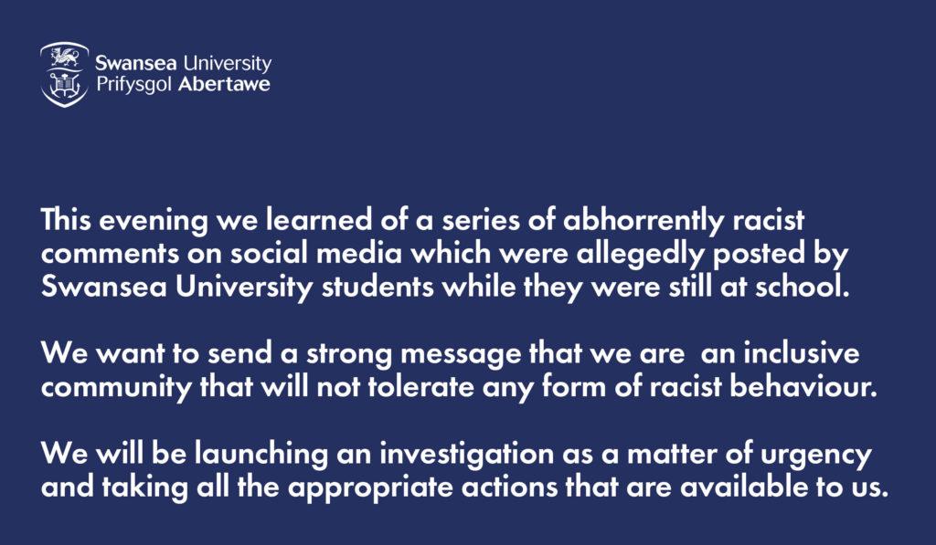 Swansea University statement