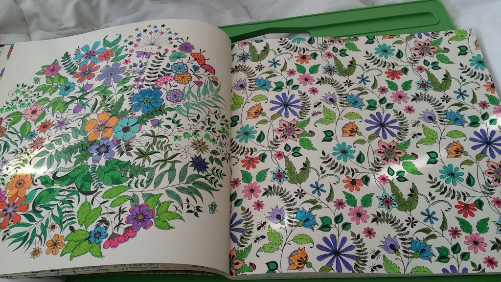 Colored From Secret Garden Coloring Book