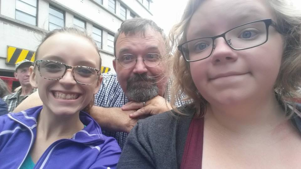 From left to right: Me, my dad, my sister